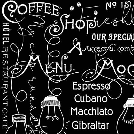 Coffee Chalk Blackboard Black