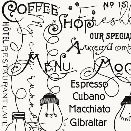 Coffee Chalk Blackboard Offwhite