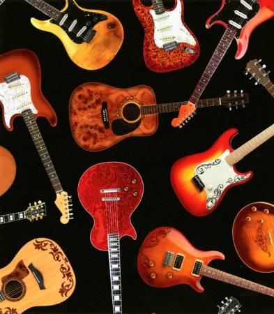 Black Guitar Toss