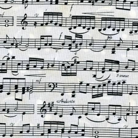 Cream Music Sheet Notes