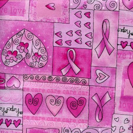 Pink Breast Cancer Awareness Hope Ribbons