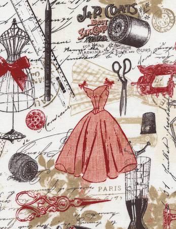 Cream Vintage Dress Making