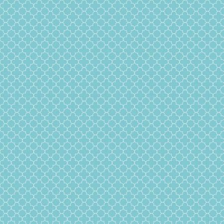 Quatrefoil Mini Color Aqua