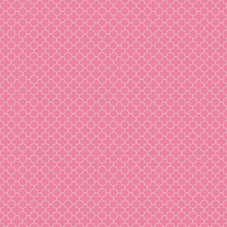 Quatrefoil Mini Color Hot Pink