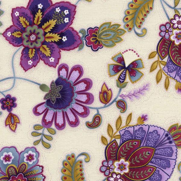 Cream Jacobean Floral-C3519-CRM