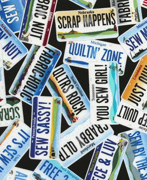 License Plates Material - Row by Row C3678