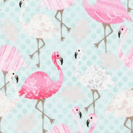 Aqua Pink Flamingo on Dot