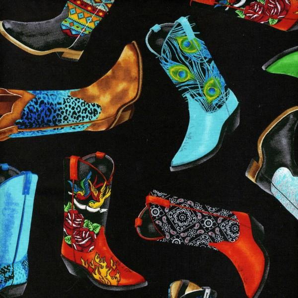 Cowboyblack with all over bright cowboy boots