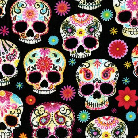 Black Day of the Dead Skulls