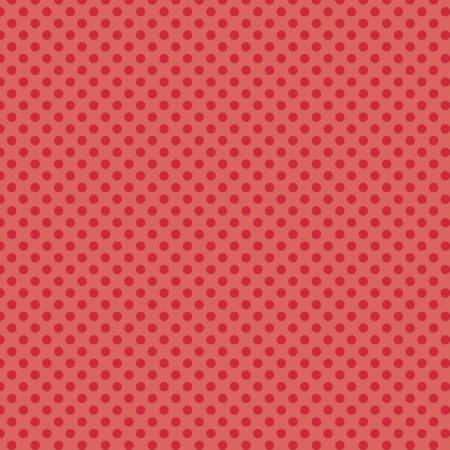 Small Dots Tone on Tone Red