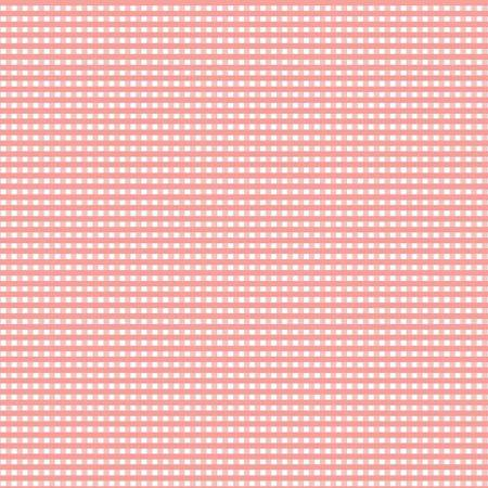 1/8 Inch Small Gingham  Coral