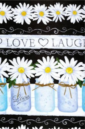 Black Live, Love, Laugh Border Stripe