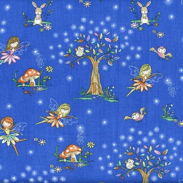 KIDZ C4472 Royal Blue Starry Night Forest
