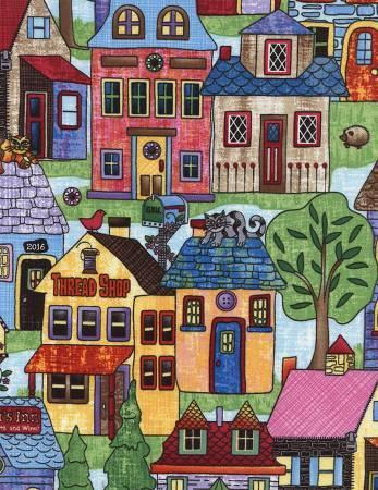 Neighborhood Scenic - Row By Row Home Sweet Home - By Debra Gabel - ROW-C4495-Mulit