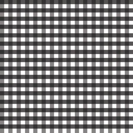 1/4 inch Medium Gingham Black