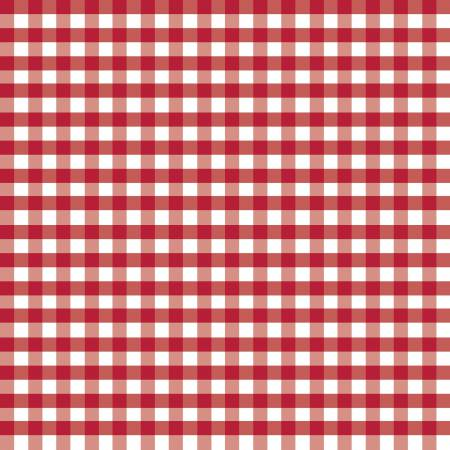 1/4 inch Medium Gingham Red