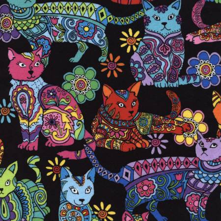 Crazy For Cats - Cat Coloring - Multi
