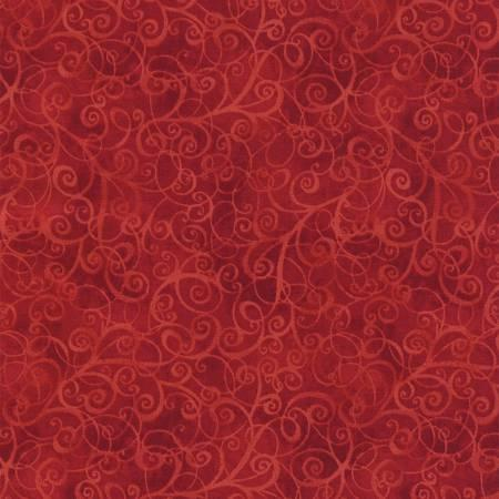 Timeless Treasures Red Tone on Tone Scroll Swirl  #C4843-RED
