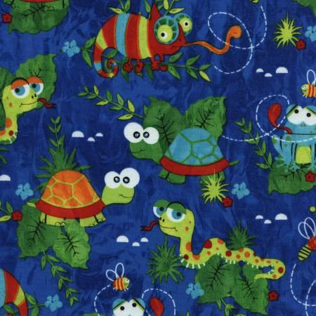 Blue Little Reptiles
