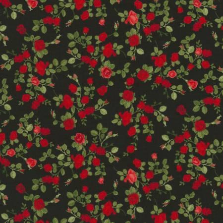 Black Tiny Roses