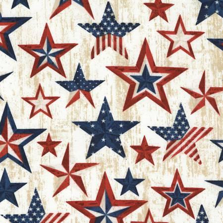 Patriotic Stars Natural #C5279