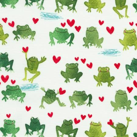 White Frogs & Hearts C5343