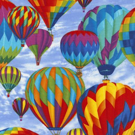 Timeless Treasures Sky Hot Air Balloons C5444