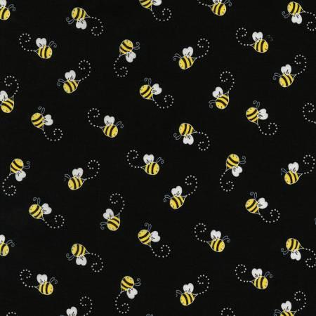 Bee Black Bees C5496-BLK