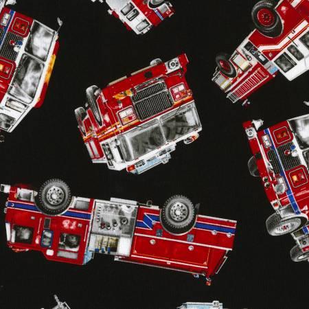 Black Fire Trucks