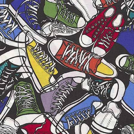 Bright Sneaker Toss