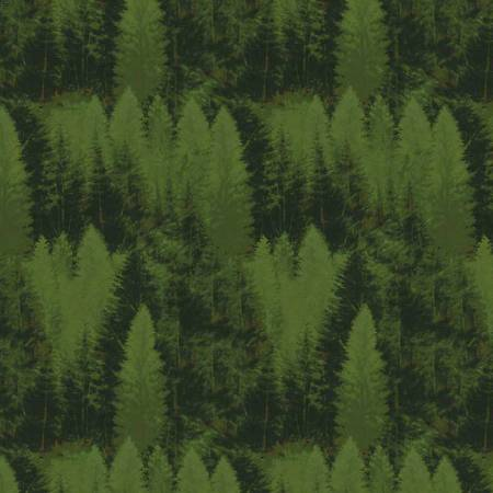 Dark Green Majestic Forest