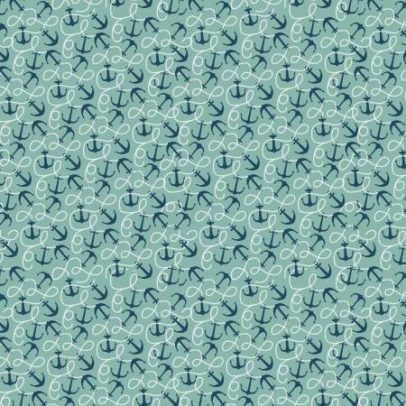 Sea Anchor Teal C5702 By The Sea