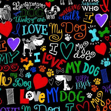 TT I Love My Dog Black