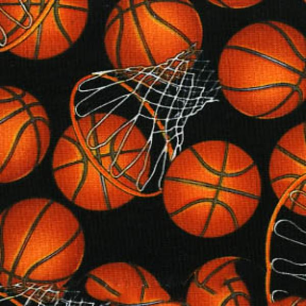 Black Basketballs & Hoops