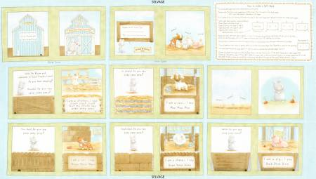 Timeless Treasures | Cotton Tale Farm C5819-Multi Soft Book Panel
