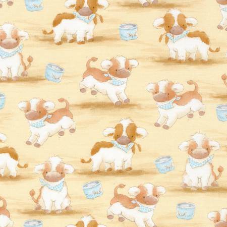 Timeless Treasures | Cotton Tale Farm C5820 Tan Cows