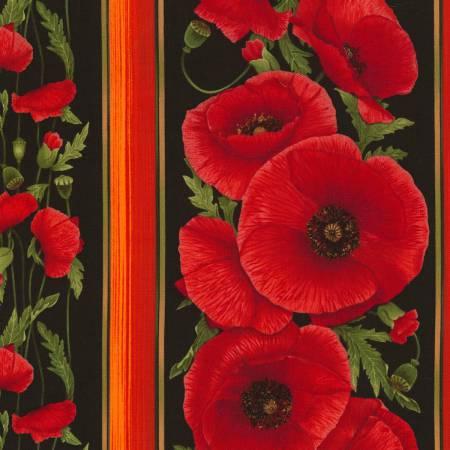 Poppies Black Stripe