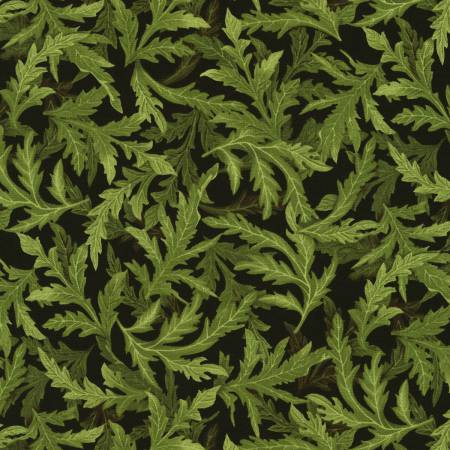 Tuscan Poppies Leaves Green
