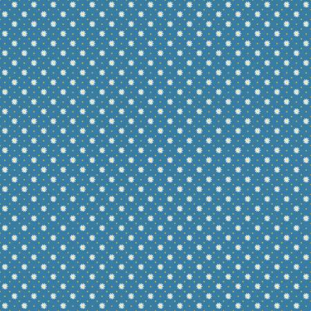 Gingham Flower Blue