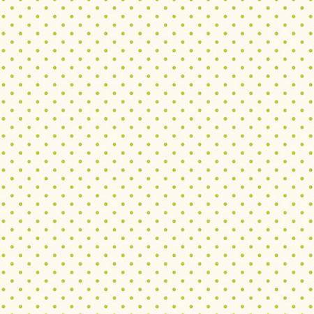 Swiss Dot Lime On Cream