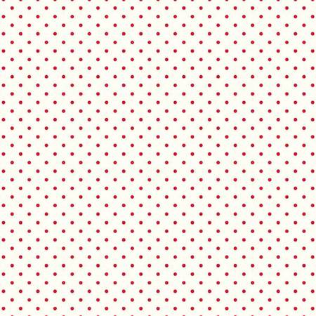 Le Creme Dots C600-80 Red (.125 red dots on cream)