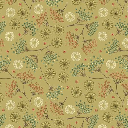 Lewis & Irene New Forest C61-2 Green Winter Floral