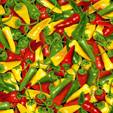 Timeless Treasures WEST-C6179 Peppers
