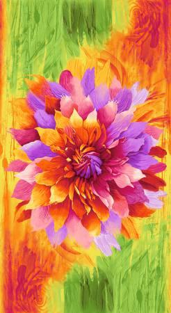 Bright Flower | 24 Fabric Panel