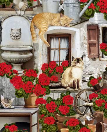 Timeless Treasures Porch Cat - C6381