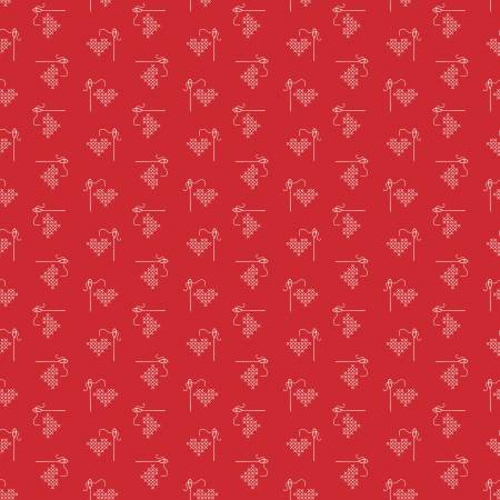 Lori Holt Basics Heart Red by Riley Blake C6401 *