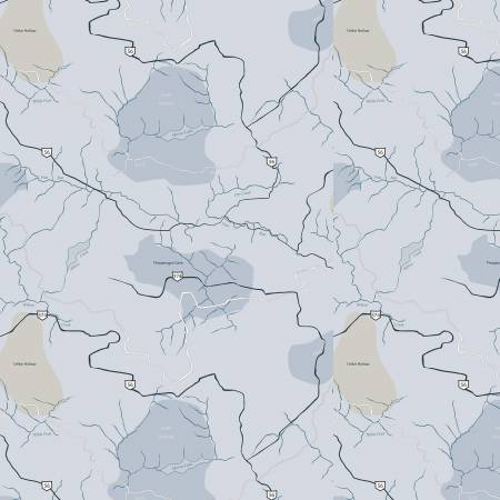JEEP TRAIL MAP C6474 BLUE Riley Blake