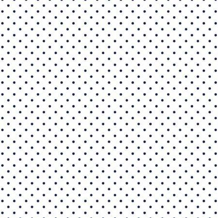 Swiss Dot On White Navy