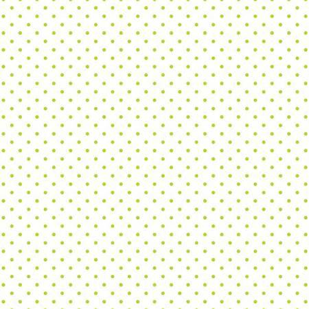 Swiss Dot On White Lime