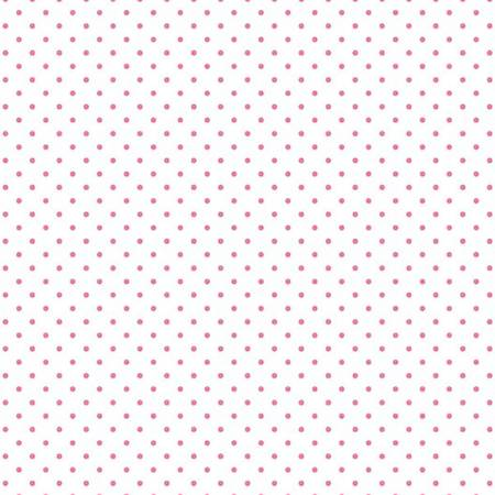 Swiss Dot On White Hotpink